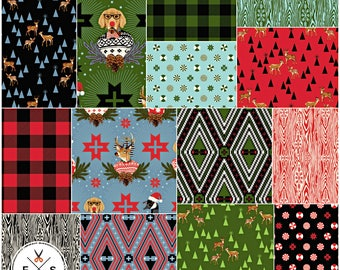 "Tula Pink HOLIDAY HOMIES Precut 10"" Fabric Squares Quilting Cotton Layer Cake FB610TP.12017 Free Spirit"