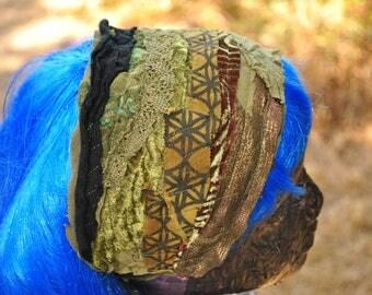 Headband - Dreadband - Boho Headband - Hippie Headband - Womens Headband - Sacred Geometry Dread Wrap - Hair Wrap - Gypsy Headband