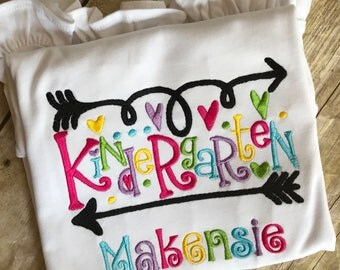 Back To School Personalized Shirt- Personalized Kindergarten Shirt- Back to School Shirt