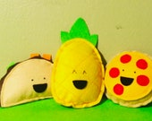 Highly Potent Catnip Stuffed Taco, Pizza, or Pineapple Cat Toy