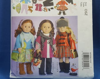 McCall's Crafts M7006, sewing pattern, 18 inch doll clothes