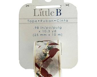 Cardinals Decorative Tape • Cardinal Bird Little B  Foil Tape (102518)