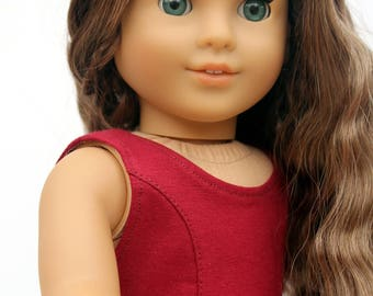 Fits like American Girl Doll Clothes - The Everyday Princess Dress in Burgundy