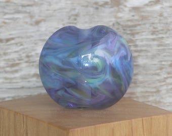 Handmade Glass Lampwork Lentil Focal Bead - Wisteria
