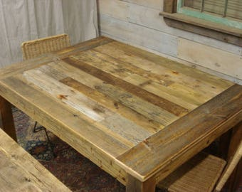 """Driftwood Table with No Overhang (54""""L x 40""""W x 29""""H)"""