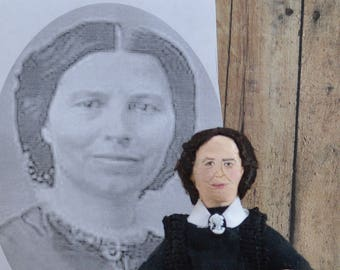 Clara Barton Civil War Nurse Doll Miniature Collectible