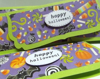 Halloween Treat Bag Toppers set of 6 bags included