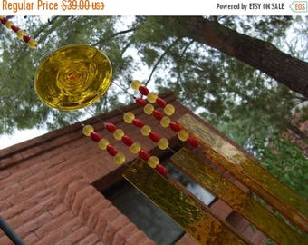 Sale Yellow Red Stained Glass Windchime Suncatcher