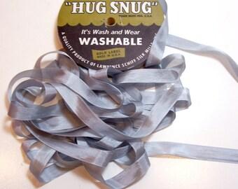 Hug Snug Silver Gray Rayon Seam Binding 1/2 inch wide x 100 yards, Nickel Gray Seam Binding