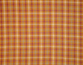 Homespun Fabric | Cotton Fabric | Plaid Fabric | Quilt Fabric | Home Decor Fabric | Craft Fabric |  Sewing Fabric | 32 x 44