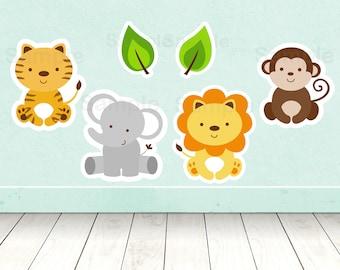 Safari Animal Cut Outs / Safari Baby Shower / Jungle Animal Baby Shower / Safari Animal Decorations / Printable INSTANT DOWNLOAD A100
