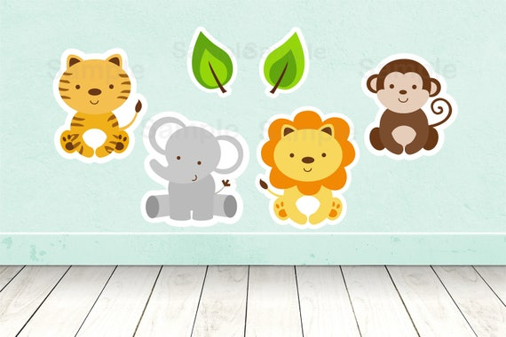 Safari Animal Cut Outs Safari Baby Shower Jungle Animal Baby