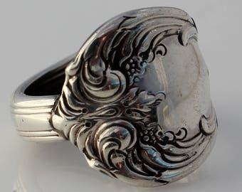 Spoon Ring Solid Sterling Silver Old Master by Towle 1942 Size 8