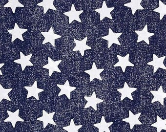"""ON SALE STARS Table Runner Colors, 11"""" wide runners,  or Napkins,  Placemats, navy blue with white stars, table Runners, Memorial Day, Indep"""