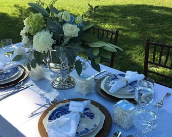 SEERSUCKER WEDDING LINENS- Colors- Table Runners, Napkins, Navy blue, light blue, red,  lime, pink, yellow, Bridal, wedding, southern bride