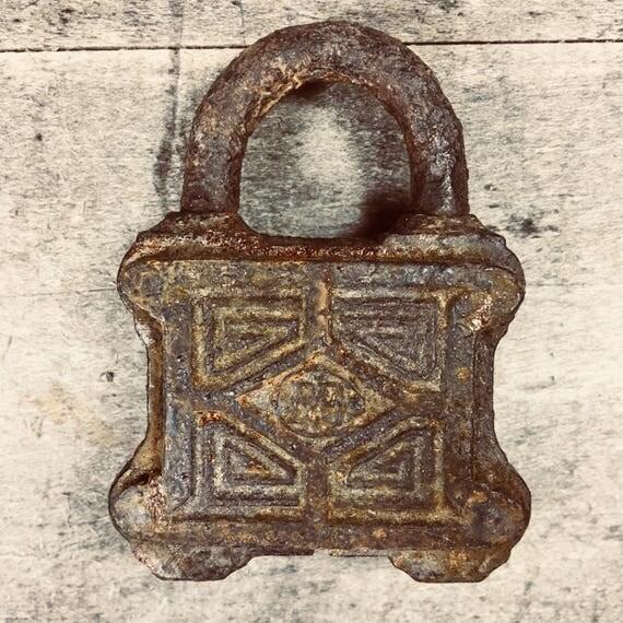 Vintage Ornate Rusty Metal Lock