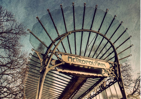 Paris France, Paris Photo, Photography Paris, Metro Sign, Paris wall decor, Art nouveau, Paris Metro Photo, Paris Metro decor, industrial