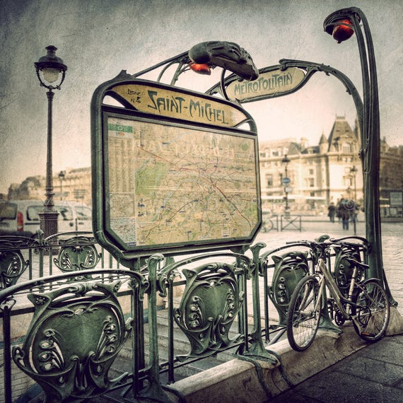 Paris Map, Parisian Decor, Paris Decor, Metro Paris, Paris photography, steampunk decor, steampunk art, metro map, paris wall art