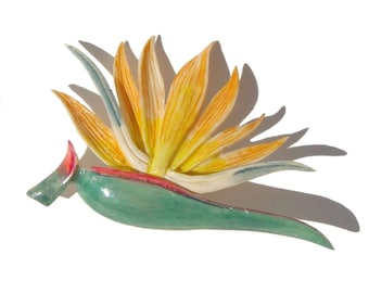 Vintage Bird of Paradise Flower Brooch John Roberts Ming's Jewelry Style