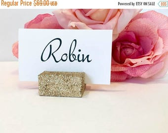 15% off ends at 5pm Place Card Holder + Champagne Gold Glittered Place Card Holders (Set of 100)