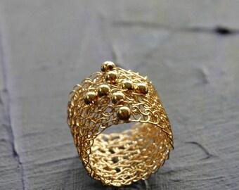 On SALE 20% - Partial Crochet Tutorial, Wire Crochet Pattern, Wire Crochet Ring, PDF Pattern, Learn to crochet a Cross ring, Beaded Ring
