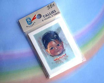 Vintage 60s Bridge Tallies Little Beaver by Audrey Young Oppel Unused