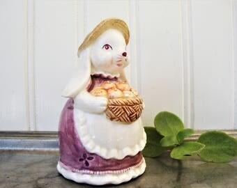vintage bunny salt pepper shaker otagiri rabbit