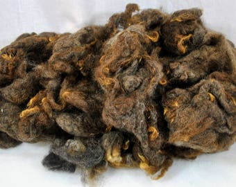 Estate Find - Brown Sheep Wool - Batt Roving - Large Lot - Almost 1 pound