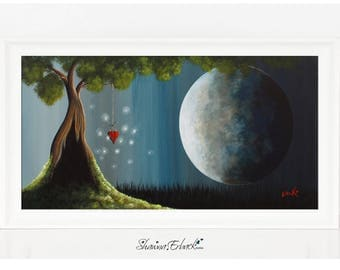 A Little Bit Enchanted - Dreamscape Art - Limited Edition Print - Canvas - Archival Print - Signed by Artist - Beautiful Dreamy - Large