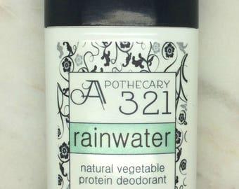 Rainwater Natural Deodorant, Aluminum Free, Paraben Free Vegan Deodorant Fresh Rain Scent