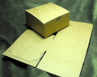Summer Sale 20 Pack Kraft Brown Paper Tuck Top Style Packaging Retail Gift Boxes 4X4X4 Inch Size