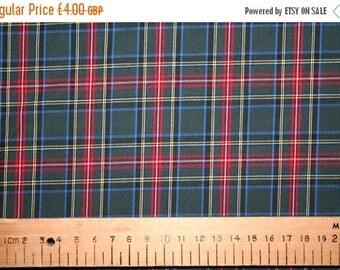 SUMMER SALE Princess Mary style tartan cotton fabric 0.50 metre