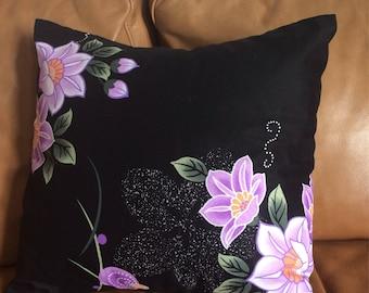 Cushion Cover - Beautiful Vintage Japanese Yukata Floral