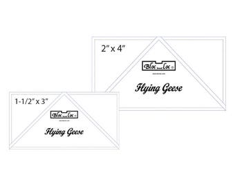 "Flying Geese Ruler Set 3 includes: 2"" x 4"" and 3"" x 6"""