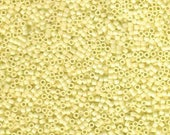 ON SALE 11/0 Miyuki Delica Opaque Pale Yellow Glass Seed Cylinder Beads 7.2 grams DB1491
