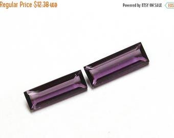 50% Off Sale 1 Pair 7x23mm Purple Amethyst Faceted Baguette Shaped Briolette / Purple Amethyst Hydro Quartz  Briolette  HP08