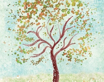 50% Off Summer Sale - Tree Art - Everything in it's Own Place - 12x18