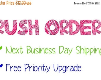 20% OFF EXP 06/30 Rush Order Next Business day Shipping and PRIORITY Shipping Upgrade!