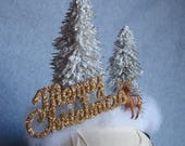 Christmas Tree and Deer Headband Winter White Snowy Tree Christmas Hair Party Accessories Free Shipping Xmas Winter Holiday Party Glitter
