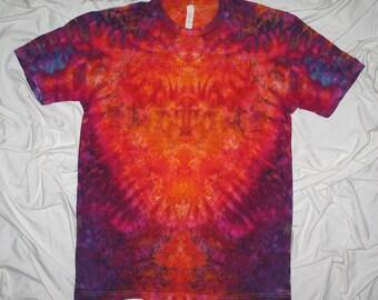 tye dye, large ice dye, inkblot ice dye, next level tee, mens fine jersey, ice dye by grateful dan dyes, rorschach inkblot test, trippy tee