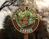 Butterfly Pollinator Friendly - Garden Sign