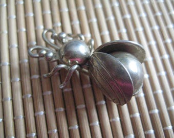 Antique Sterling Bug Beetle Pin for the Collector