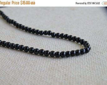 Deep Discount Sale Black Onyx Gemstone Smooth Round 4mm 90 beads Full strand