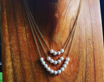 Pearl Necklace, Add a Pearl Necklace, Gold Add a Pearl Necklace, Childs Pearl Necklace, Add On Pearl Necklace, Gold Pearl Necklace