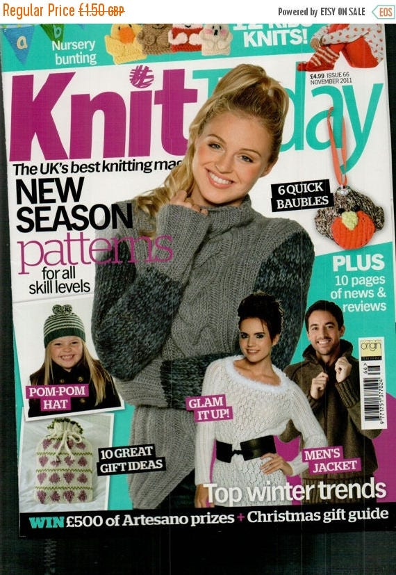 Christmas In July Knit Today Knitting Magazine Issue 66 November 2011