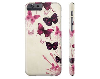 Art Phone Case iPhone 6s Case iPhone 6 Plus Case Butterflies iPhone 7 Case Samsung Galaxy s6 Cover iPhone 6 iPhone 5 Case Samsung Galaxy s7