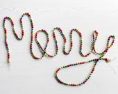 Vintage Glass Bead Garland, Christmas Decoration, Holiday Decor, Ornaments & Accents