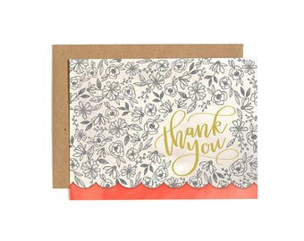 Thank You Flowers Boxed Set of 8 // Illustrated Card // 1canoe2
