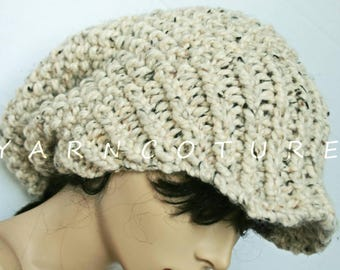 The OVERSIZED Brimmed Slouchy Hat /Full Stretch Satin Lining