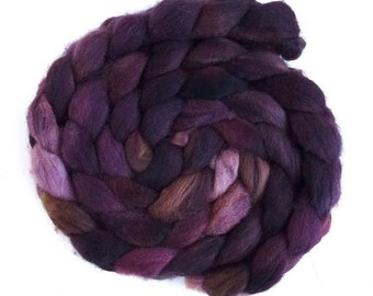 Falkland Wool Roving - Hand Dyed Spinning or Fiber, Mercurial Light